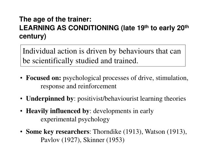 The age of the trainer: