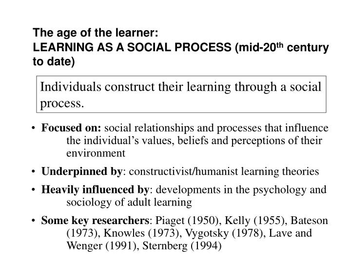 The age of the learner: