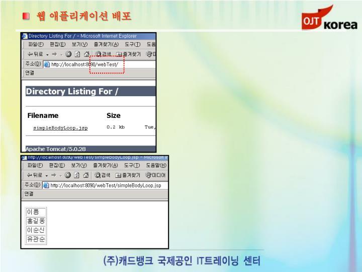 웹 애플리케이션 배포