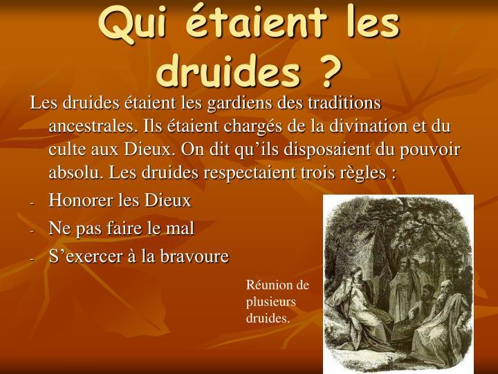 Qui étaient les druides ?