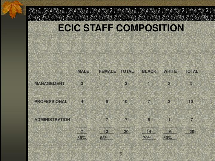 ECIC STAFF COMPOSITION