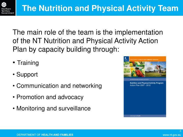 The Nutrition and Physical Activity Team