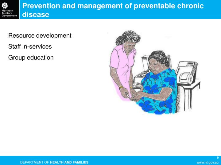 Prevention and management of preventable chronic disease