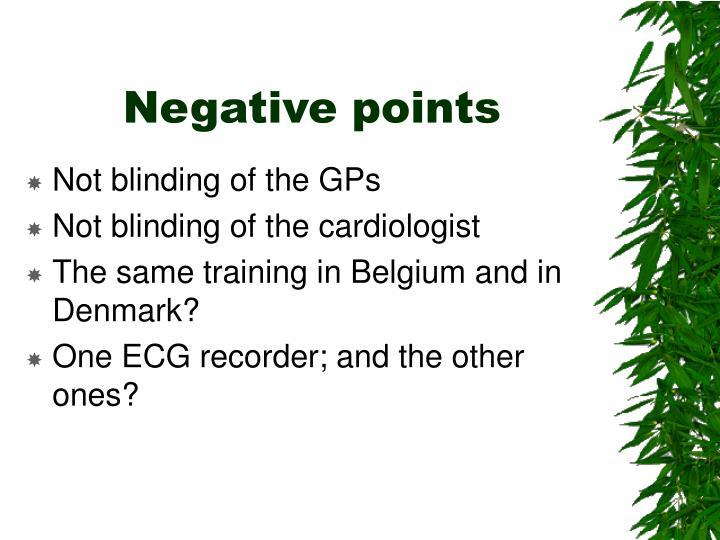 Negative points