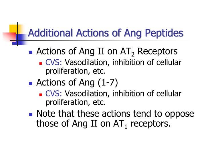 Additional Actions of