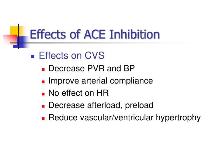 Effects of ACE Inhibition
