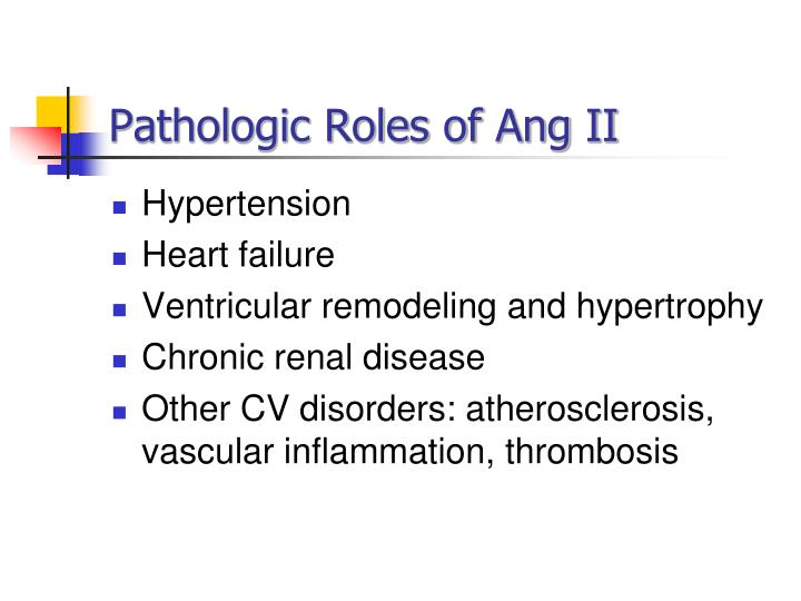 Pathologic Roles of
