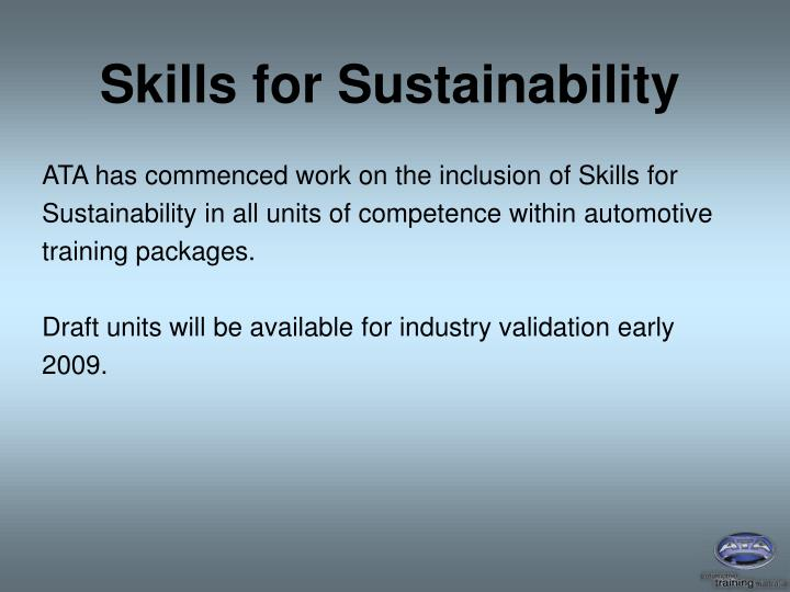 Skills for Sustainability