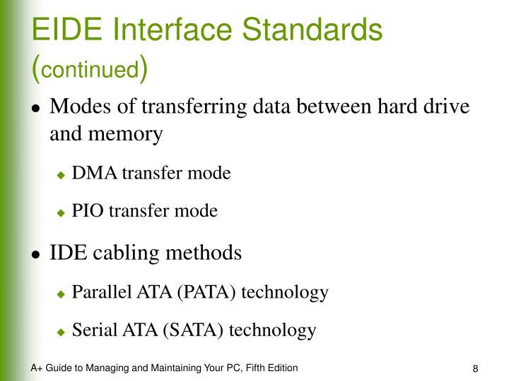 EIDE Interface Standards (