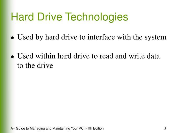 Hard Drive Technologies