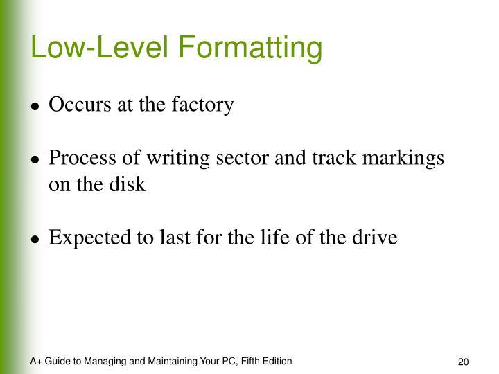 Low-Level Formatting
