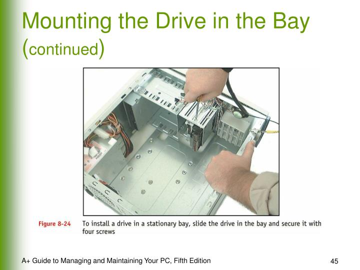 Mounting the Drive in the Bay (