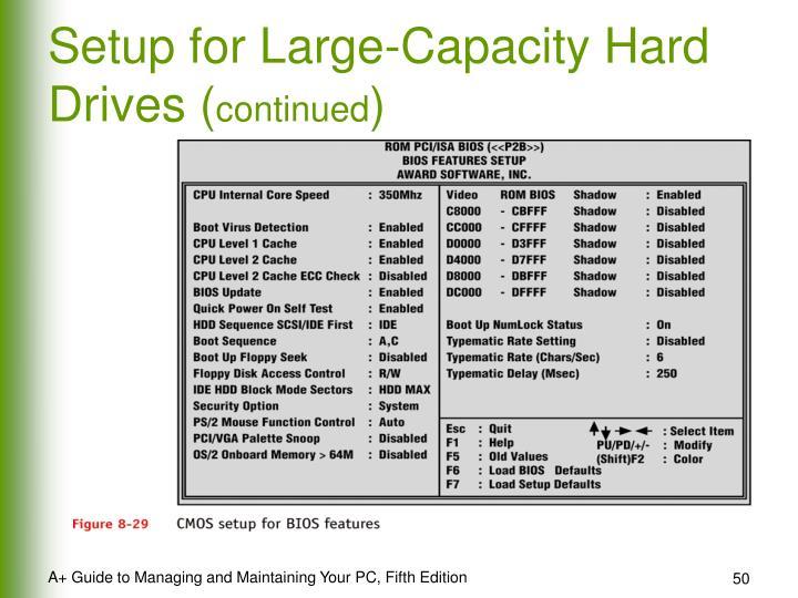 Setup for Large-Capacity Hard Drives (