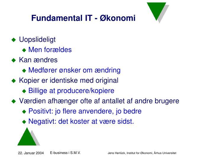 Fundamental IT - Økonomi