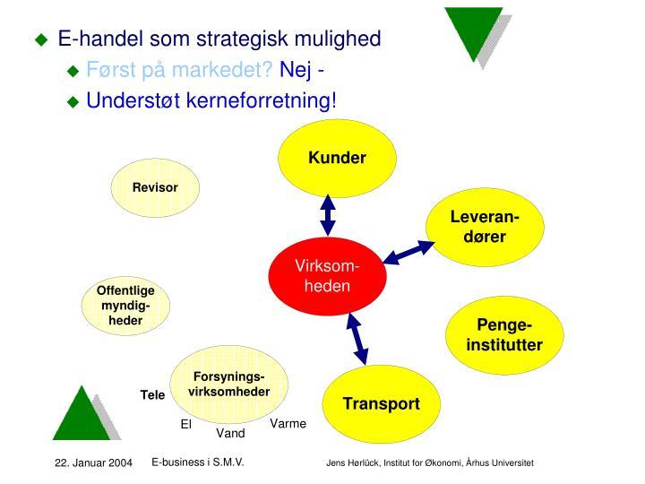 E-handel som strategisk mulighed