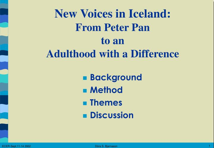 New Voices in Iceland
