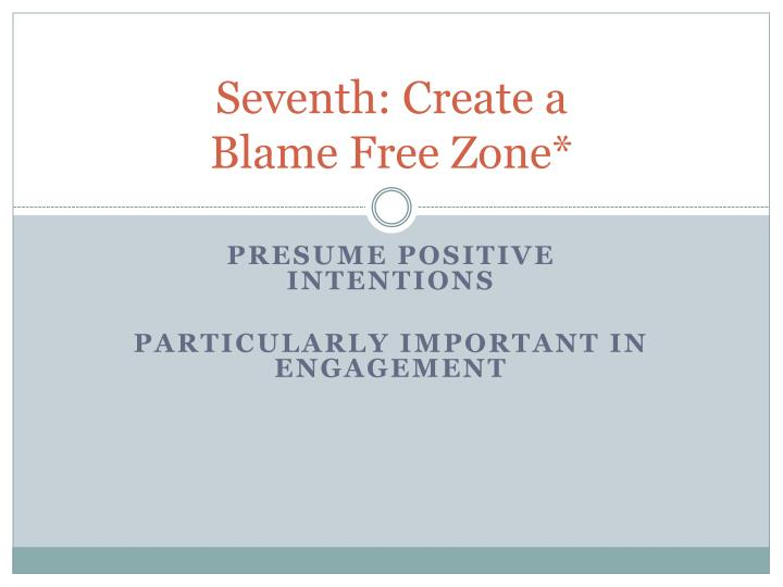 Seventh: Create a