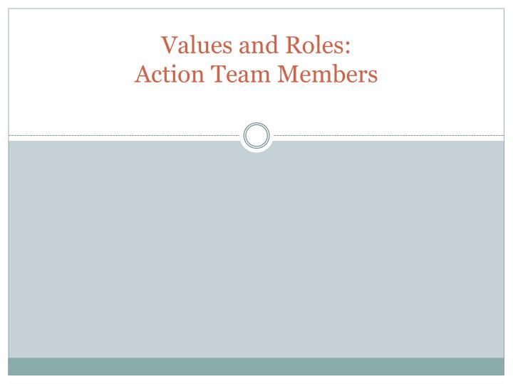 Values and Roles: