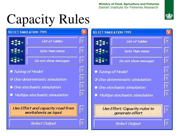 Capacity Rules