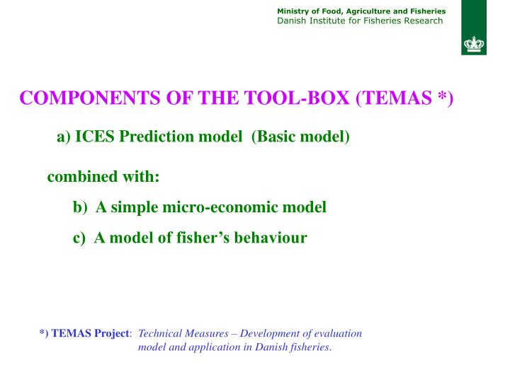 COMPONENTS OF THE TOOL-BOX (TEMAS *)