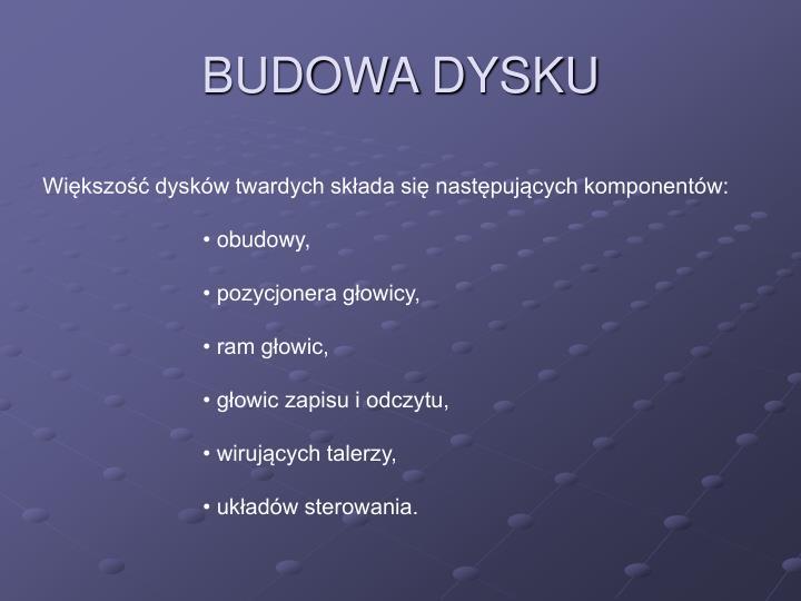 BUDOWA DYSKU