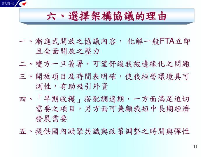 六、選擇架構協議的理由