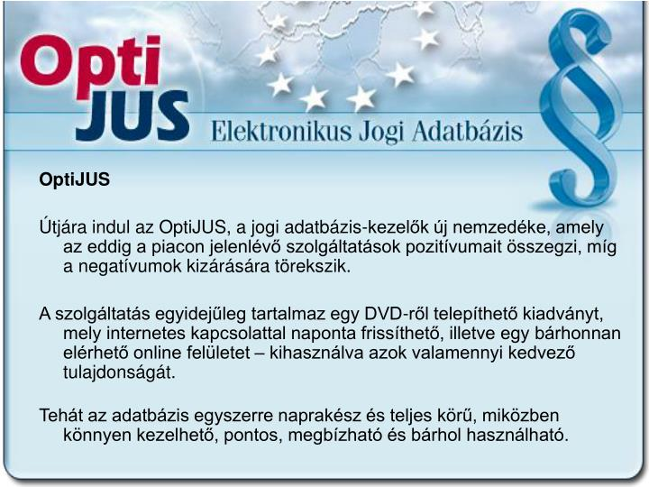 OptiJUS