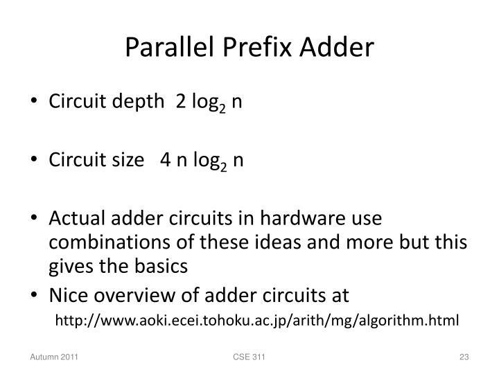 Parallel Prefix Adder