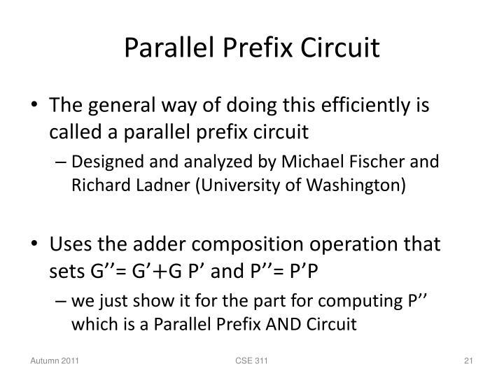 Parallel Prefix Circuit
