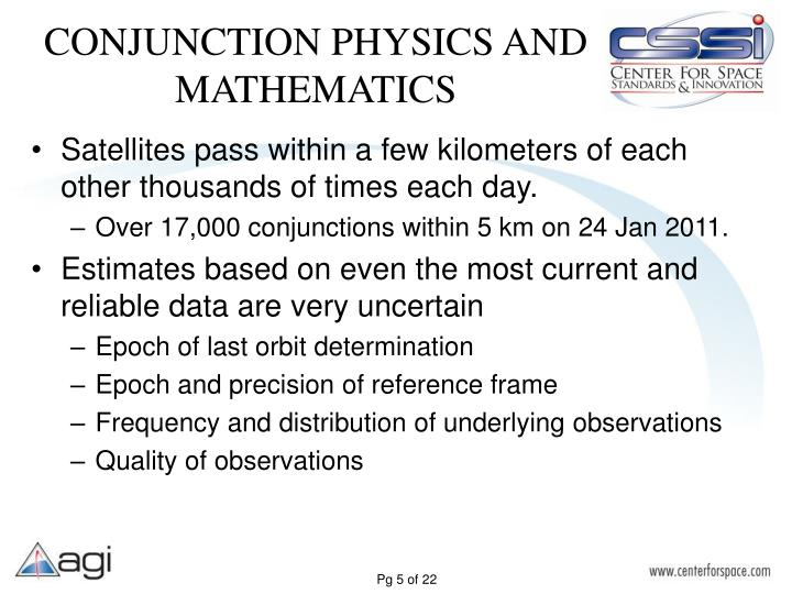 CONJUNCTION PHYSICS AND MATHEMATICS