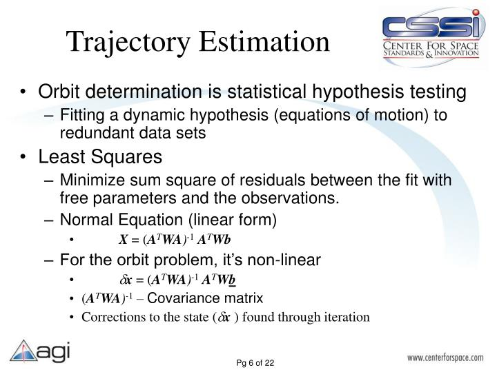 Trajectory Estimation