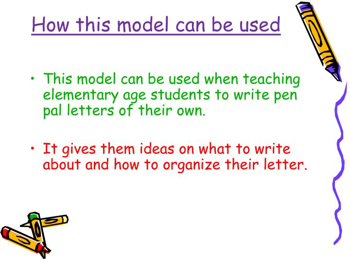 How this model can be used