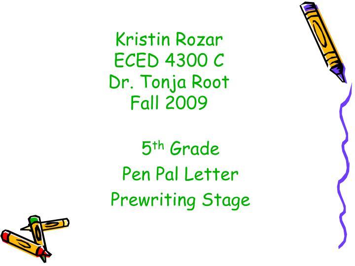 Kristin Rozar