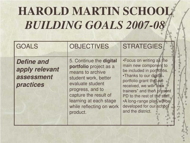 HAROLD MARTIN SCHOOL