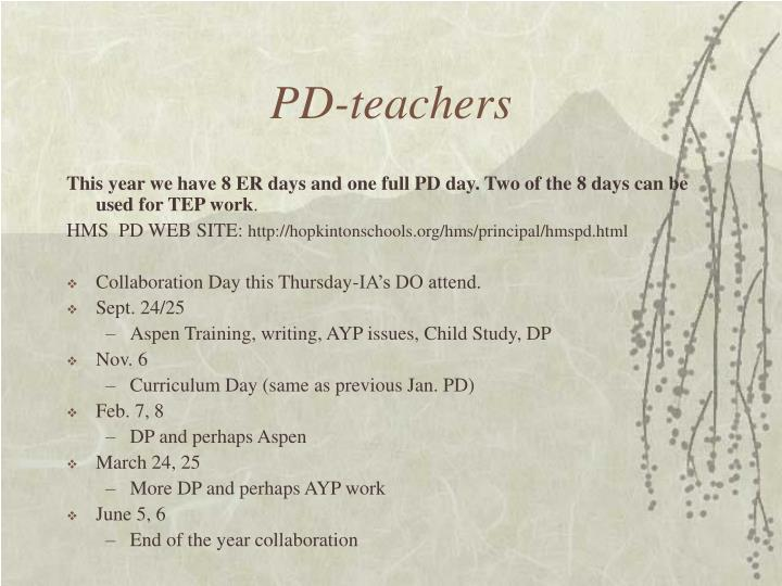 PD-teachers