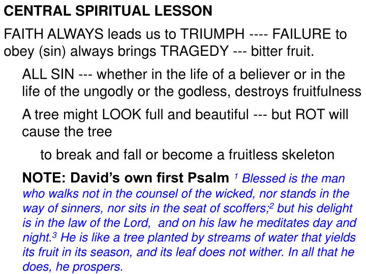 CENTRAL SPIRITUAL LESSON
