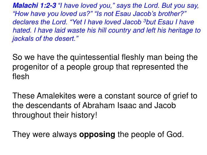 Malachi 1:2-3
