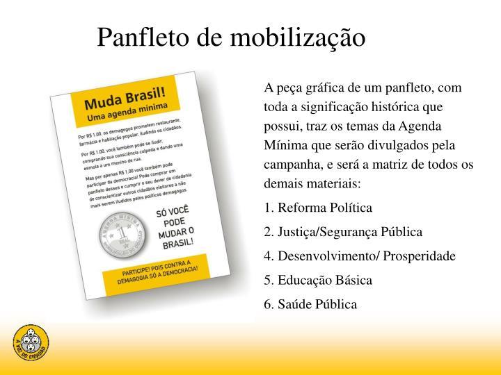 Panfleto de mobilização
