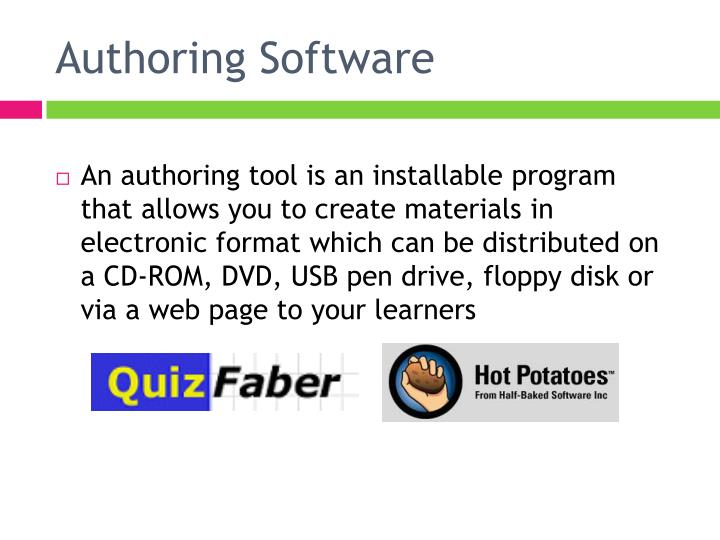 Authoring software1