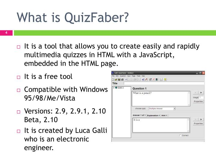 What is QuizFaber?
