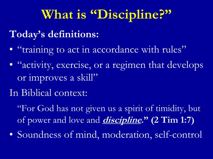 "What is ""Discipline?"""