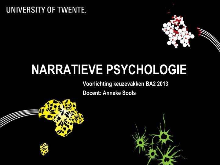 NARRATIEVE PSYCHOLOGIE