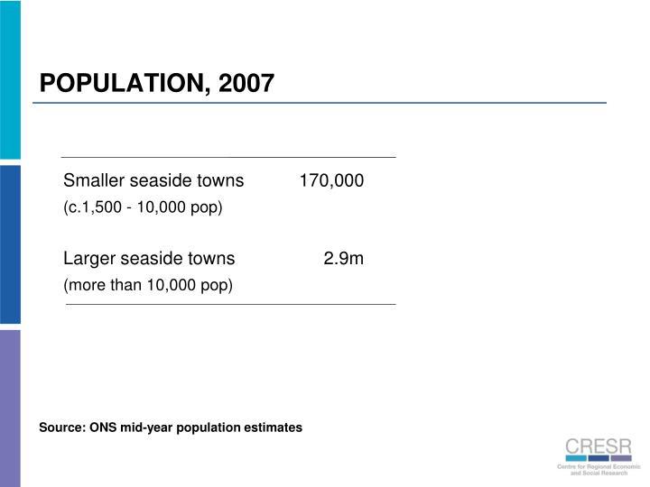 POPULATION, 2007