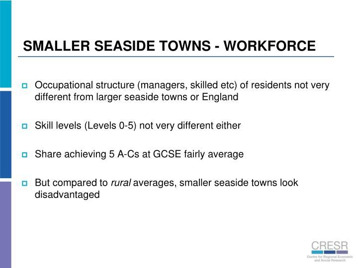 SMALLER SEASIDE TOWNS - WORKFORCE