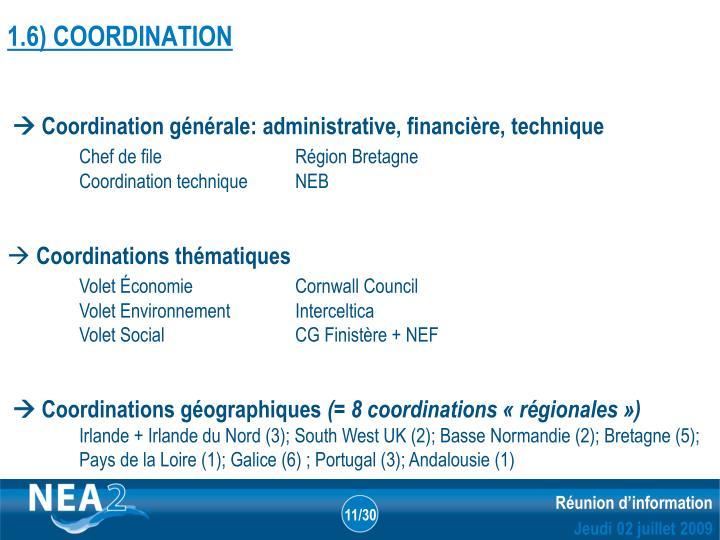 1.6) COORDINATION