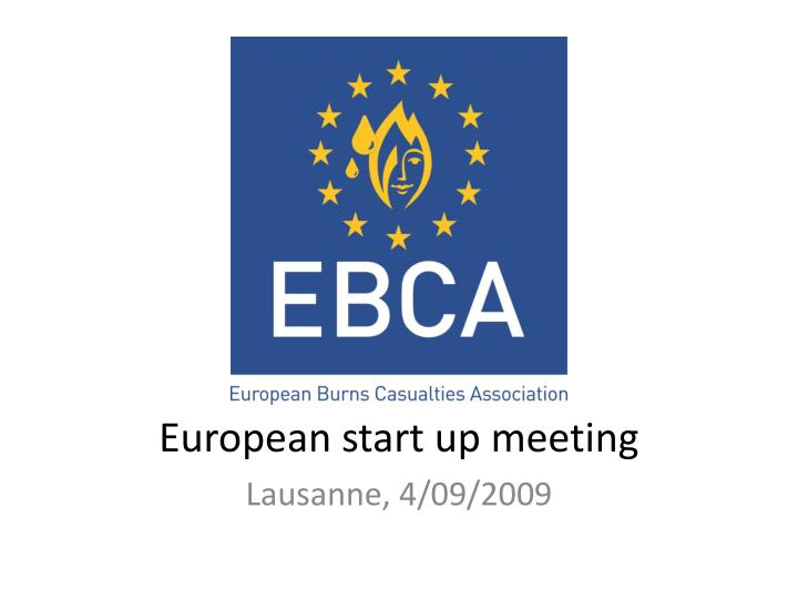 European start up meeting