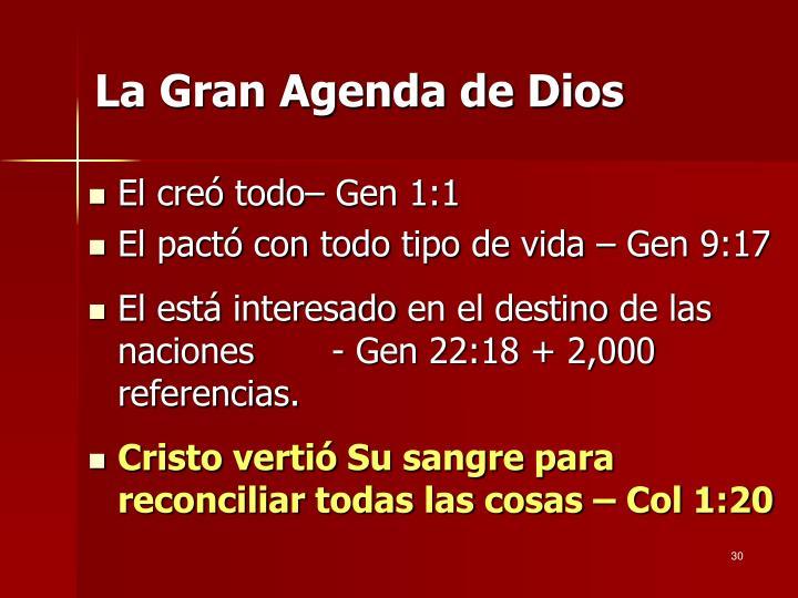La Gran Agenda de Dios