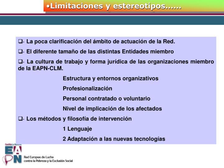Limitaciones y estereotipos......