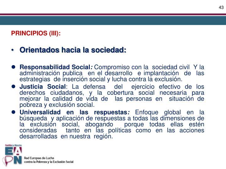 PRINCIPIOS (III):