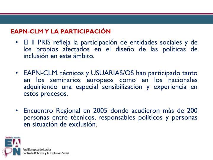 EAPN-CLM Y LA PARTICIPACIÓN